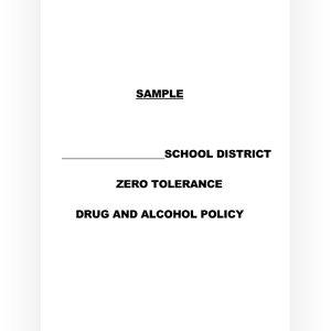 Comprehensive School Drug and Alcohol Policies
